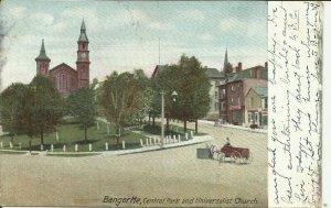 Bangor, Me., Central park and Universalist Church