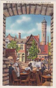 Section Of Belgian Village Chicago World's Fair 1933