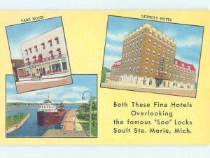 Linen HOTEL SCENE Sault Ste. Marie Michigan MI AE1807