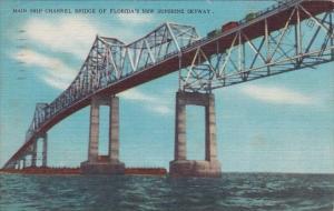 Florida Largo Main Ship Channel Bridge Of Florida's New Sunshine Skyway 1997
