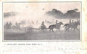 Artillery Charge West Point, New York Postcard