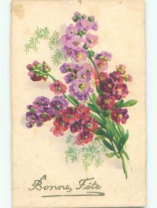 Very Old Foreign Postcard BEAUTIFUL FLOWERS SCENE AA4732