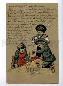 245438 Young builders KIDS Vintage EMBOSSED 1903 y PFB #2069