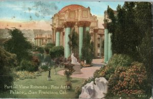 Partial View Rotunda Fine Arts Palace San Francisco California Postcard