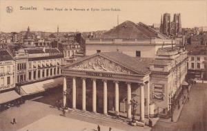 Belgium Brussells Theatre Royal De La Monnale El Eglise Sainte Gudule