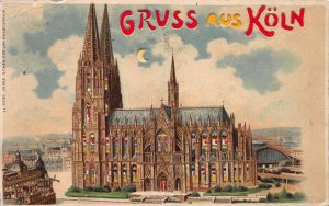 Gruss Aus Koln, Greetings from Cologne, Germany, 1908 Hold-to-Light Postcard