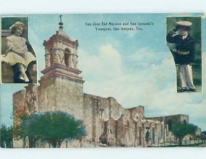 Unused Divided-Back KIDS AT THE MISSION San Antonio Texas TX ho0174