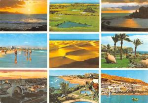 Spain Gran Canaria Playas del Sur multiviews Sunset Desert Beach Swimming Pool