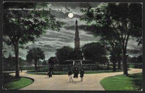 Confederate Monument Forsyth Park At Night Savannah Georgia Used c1908