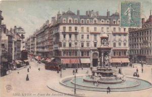 France Lyon Place des Jacobins et Rue Centrale 1918