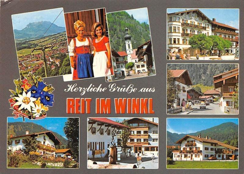 Reit im Winkl Traditional Costumes Statue Gasthaus Pension Chairlift Panorama
