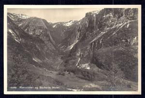 Stalheim Hotel Nærøy Valley Norway RPPC unused c1920's