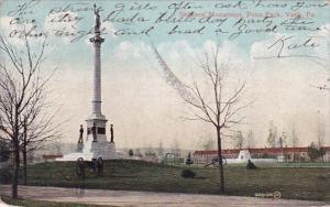 Pennsylvania York Soldiers Monument Penn Park 1907