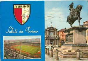 Italy, Saluti da TORINO, 1975 used Postcard