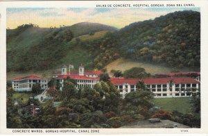 P1930 vintage postcard concrete wards gorgas hospital canal zone unused