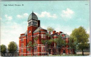 DECATUR, IL Illinois     HIGH SCHOOL     c1910s   Postcard