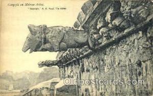 Gargoyle on Melrose Abbey Statue Postcard Post Card Old Vintage Antique  Garg...