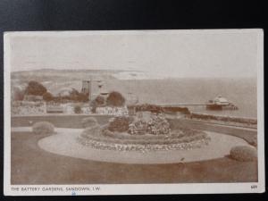 Isle of Wight: Sandown, Battery Gardens c1955