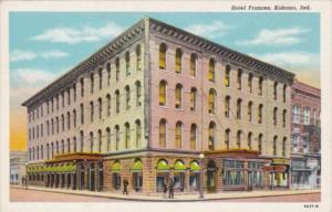 Indiana Kokomo Hotel Frances Curteich