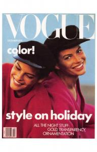 Postcard VOGUE Magazine Iconic Cover Fashion Style on Holiday December 1988