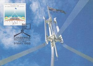 CANBERRA : Stamp & Postcard ,  Australia , PU-1988, Parliament House