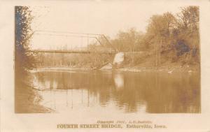 Estherville Iowa~Fourth Street Bridge~Des Moines River~LC Doolittle 1907 RPPC