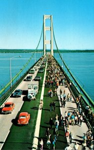 Michigan The Mackinac Bridge Connecting Mackinaw City and St Ignace
