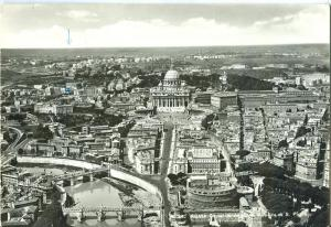 Rome, Roma, Castle S. Angelo and St. Peter's Basilica RPPC
