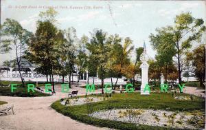1908 Kansas City KS PC: Carnival Park, Merry-Go-Round