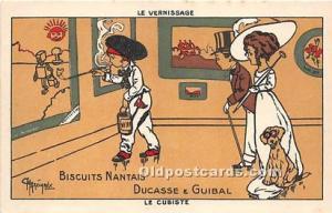 Advertising Postcard - Old Vintage Antique La Vernissage Biscuits Nantais