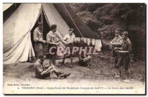 Verberie - french Scout Camp School Cappy Course knots Old Postcard Scouts Sc...
