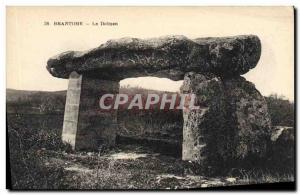Old Postcard Dolmen Megalith Brantome