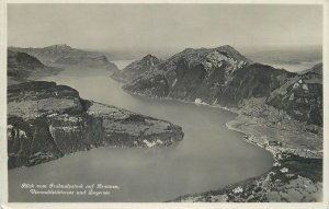 Switzerland Lucerne lake view Postcard