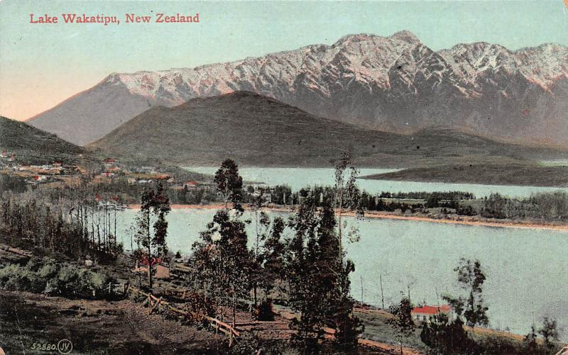 Lake Wakatipu, New Zealand, Early Postcard, Unused