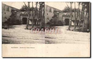 Stereoscopic Card - Bayonne - Entree Old Castle - Old Postcard