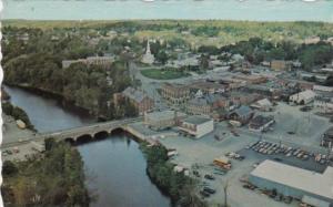 Aerial View Showing Bridge Ellsworth Maine