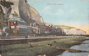 DOVER KENT UK EAST CLIFF~POSTCARD 1908 PSTMK