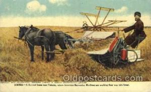 Siberia harvesting Farming, Farm, Farmer, Postcard Postcards near Tobolsk, Am...