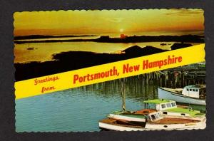 NH Greetings PORTSMOUTH NEW HAMPSHIRE Postcard Sunrise