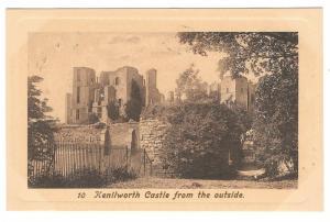 UK Kenilworth Castle From Outside The Fine Art Series Postcard Vintage Lithoraph