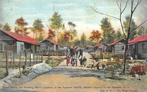 Brown's Station NY Catskills Working Men's Quarters Ashokan District Postcard