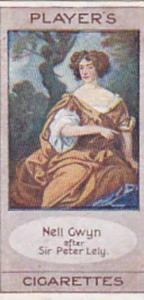 Player Vintage Cigarette Card Bygone Beauties 1914 Nell Gwyn