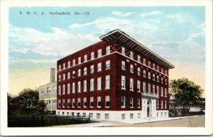 Springfield Missouri~YMCA~Corner View~Buildings Behind~1920s Postcard