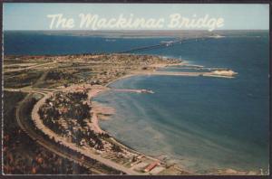 Mackinac Bridge,MI Postcard BIN