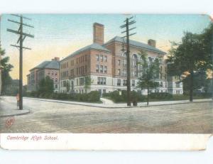 Divided-Back HIGH SCHOOL SCENE Cambridge - Boston Massachusetts MA E2514