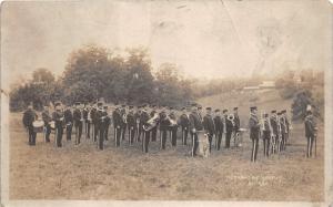 E84/ Carrollton Ohio RPPC Postcard c1910 Band Members Uniforms 2