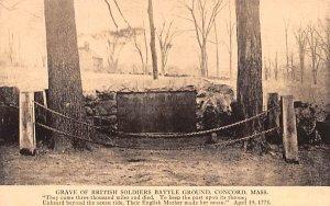 Grave of British Soldiers Battle Ground Concord, Massachusetts Postcard