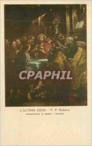 Postcard Old Ultima Cena PP Rubens Pinacoteca di Brera Milan