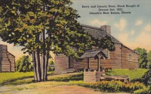 Berry And Lincoln Store Stock Boight Of Greene Jan 1833 Lincolns New Salem Il...