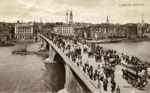UK - England, London. London Bridge    *RPPC